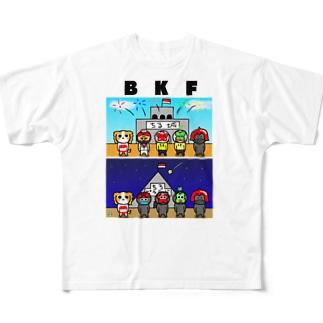 BK ちる王国 フルグラフィックTシャツ