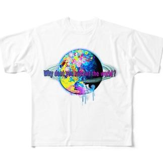 世界を塗り替えてみないか?グッズホワイト Full graphic T-shirts