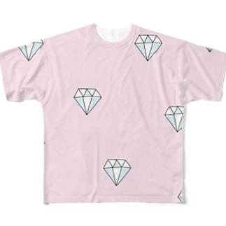ピンクダイヤモンド Full graphic T-shirts