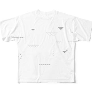 三角畑 フルグラフィックTシャツ