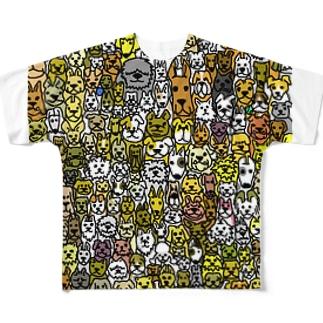 いっぱいワンコ フルグラフィックTシャツ