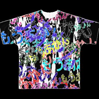 なぞQのもうあかん[黒]フルグラフィックTシャツ