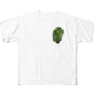 ピーマン Full graphic T-shirts