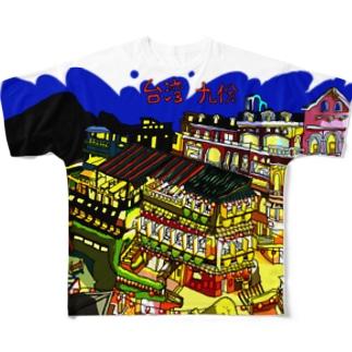 台湾の九份ゆる絵 Full graphic T-shirts
