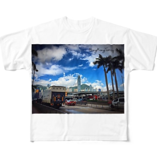 香港の景色 Full graphic T-shirts