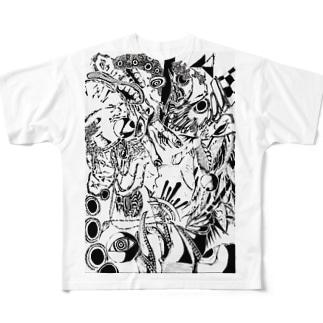 逆再生 Full graphic T-shirts