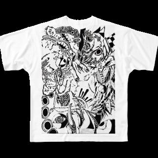 @折部.壊子(オリブ)の逆再生 フルグラフィックTシャツ
