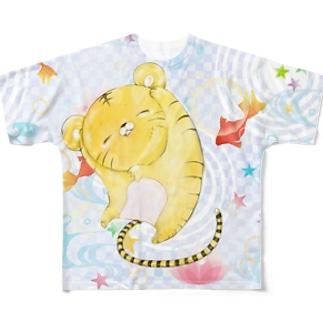 虎吉と夏夢 Full graphic T-shirts