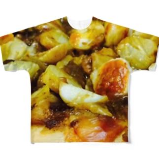 カレーピザ フルグラフィックTシャツ