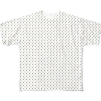 花柄 フルグラフィックTシャツ