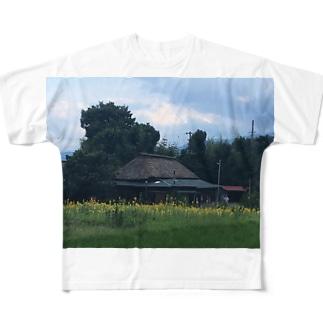古民家ガーデン紋蔵(夏) Full graphic T-shirts