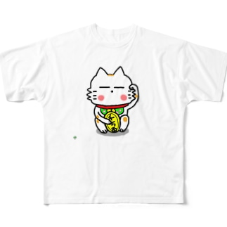 BK あーきちゃん招き猫バージョン フルグラフィックTシャツ