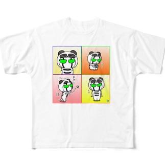 BK ぱんだバージョン フルグラフィックTシャツ