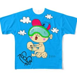 たまのりくん Full graphic T-shirts