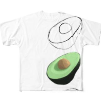 アボカボ Full graphic T-shirts