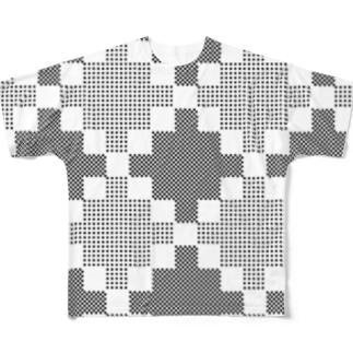 ふんわりダイヤ柄 フルグラフィックTシャツ