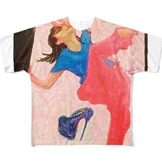 シルヴィ・ギエムさんのように Full graphic T-shirts