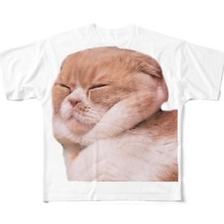 自前スヌードマルティ フルグラフィックTシャツ