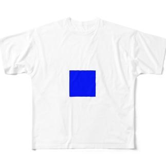 一部blue Full graphic T-shirts