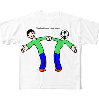 The ball is my best friend ボールは友達 Full graphic T-shirts
