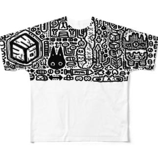 ものくろー Full graphic T-shirts