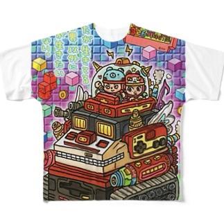 ふぁみこん Full graphic T-shirts