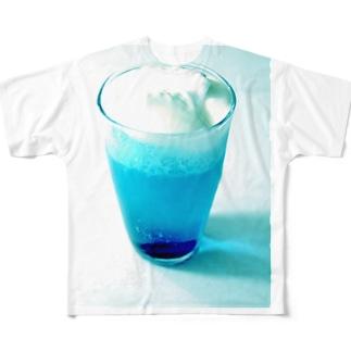 ブルークリームソーダ フルグラフィックTシャツ