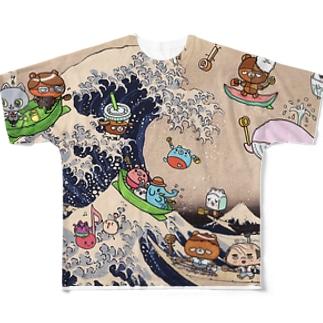 浮世いえーい Full graphic T-shirts
