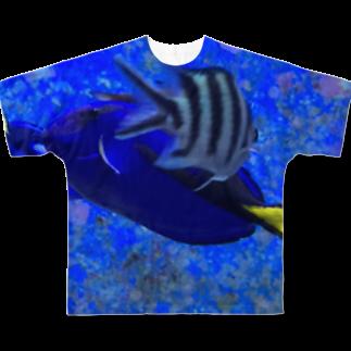 交差する魚 フルグラフィックTシャツ
