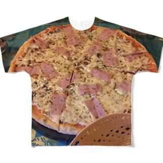 ハッピーピザ フルグラフィックTシャツ