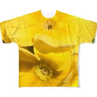 眩しいくらいの黄色 フルグラフィックTシャツ