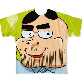 緑(四角)の「ヨシダ君」 フルグラフィックTシャツ