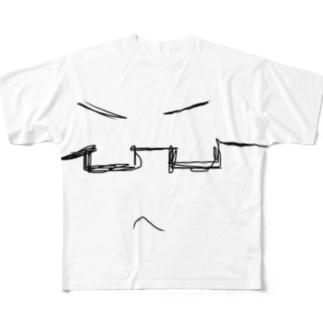 眼鏡くん Full graphic T-shirts