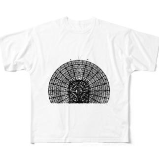 パラボラアンテナ(府中トロポサイト) Full graphic T-shirts