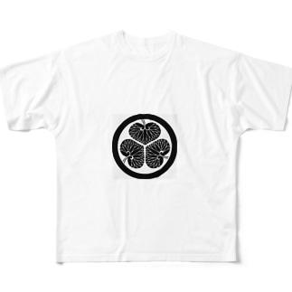 葵 Full graphic T-shirts