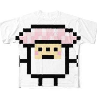 PixelArt スシスッキー ビントロ フルグラフィックTシャツ