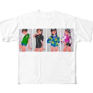 憧れ少女 フルグラフィックTシャツ