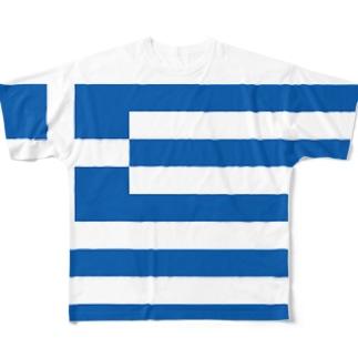 限定5点!!原価サービス【I♥Greece-アイラブギリシャ】 フルグラフィックTシャツ