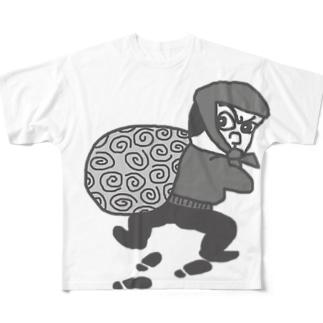 大泥棒 怪盗るぽん Full graphic T-shirts