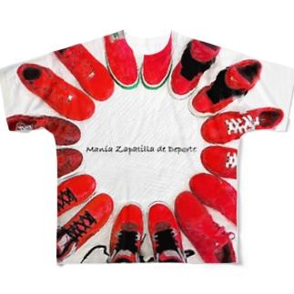 Manía Zapatilla de Deporte👟 フルグラフィックTシャツ