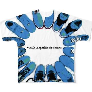 Manía Zapatilla de Deporte フルグラフィックTシャツ