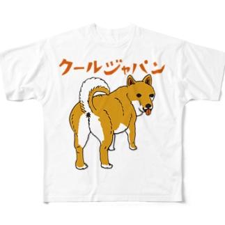 柴犬 フルグラフィックTシャツ