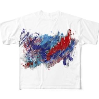 崩壊 フルグラフィックTシャツ