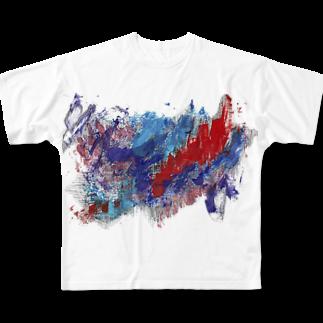 yakusasakuyaの崩壊フルグラフィックTシャツ