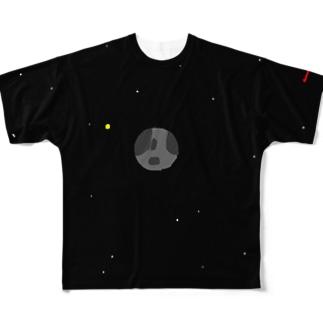 人類滅亡後 フルグラフィックTシャツ