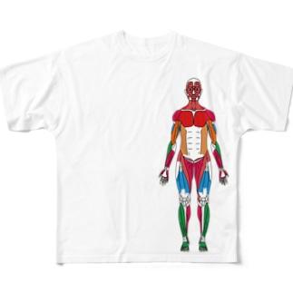 カラフルな筋肉 Full graphic T-shirts