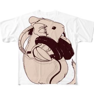 ヘッドフォンデグーシリーズ フルグラフィックTシャツ