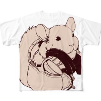ヘッドフォンチンチラシリーズ フルグラフィックTシャツ
