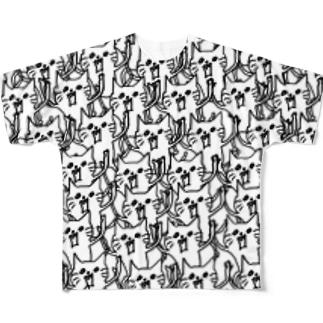 ネコです。ネコです。群Version フルグラフィックTシャツ