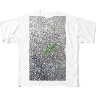 カマキリのヒトコマ Full graphic T-shirts